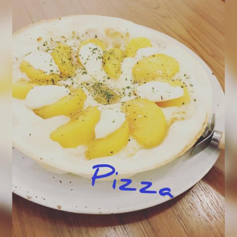 柿のクリームチーズピザ